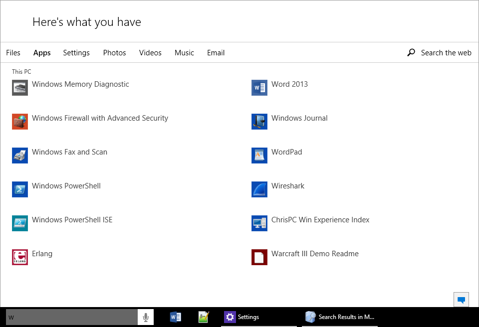 cortana  please just show me the windows update app when i