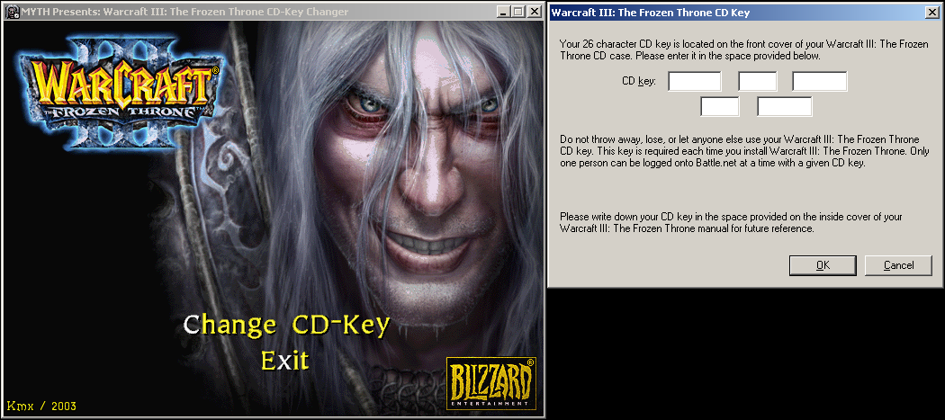 Changing your cd key in Warcraft 3 | Warcraft III World